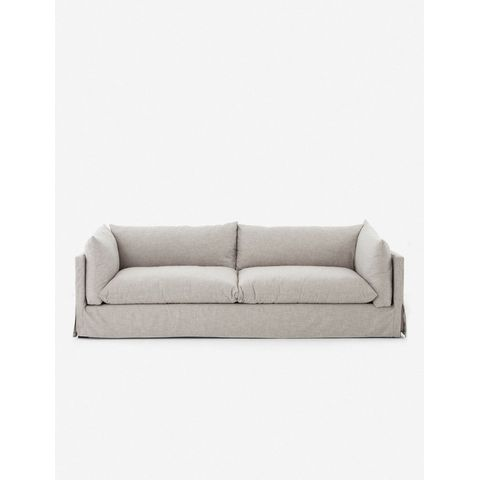 Arlen Slipcover Sofa, Light Gray