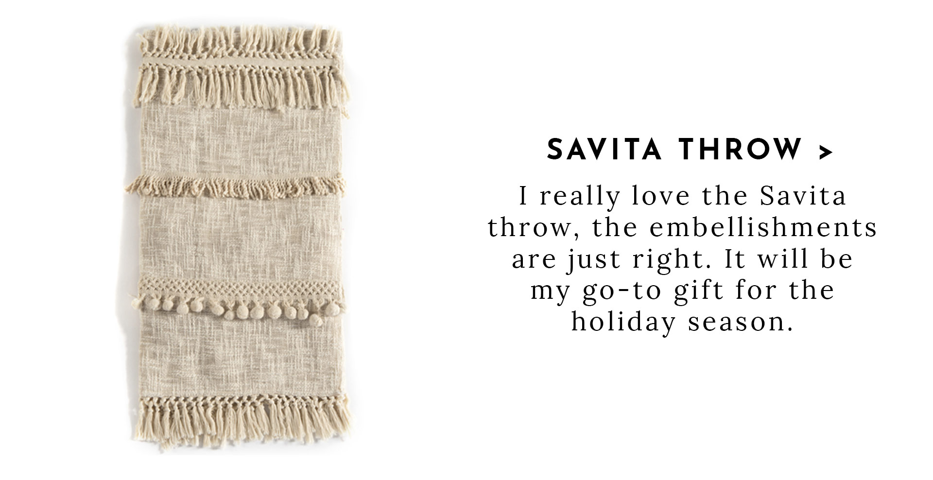 Savita Throw